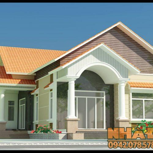 Bản vẽ nhà cấp 4 mái thái nông thôn 11.5x21m có 4 phòng ngủ tại Bình Phước-VNC220417