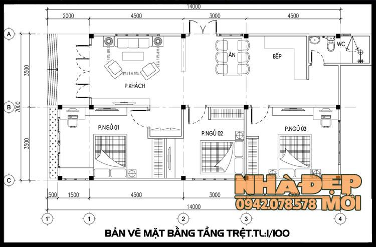 ban-ve-nha-cap-4-nong-thon-3-phong-ngu