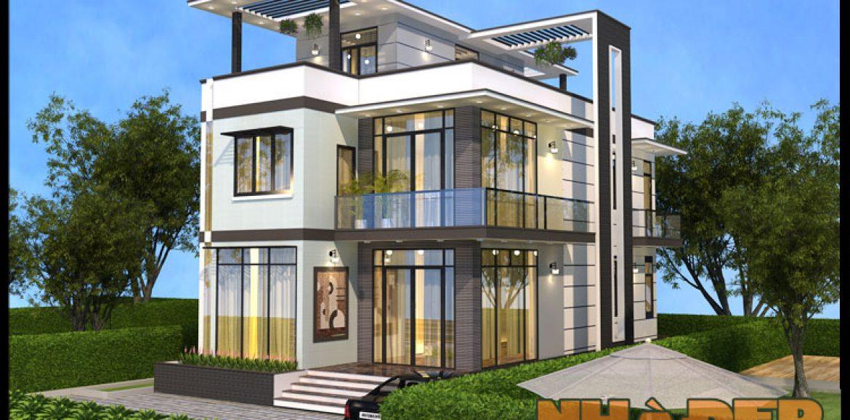 Mẫu nhà biệt thự đẹp hiện đại 7.5x16m có không gian nội thất sang trọng tại Củ Chi-TP.HCM-VNB280517