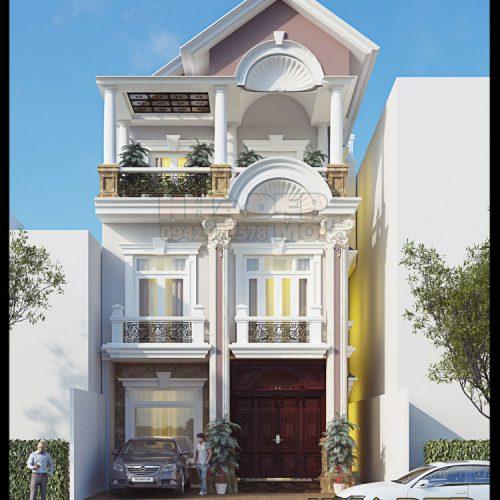 Mẫu biệt thự nhà phố đẹp 3 tầng 7x15m kiến trúc tân cổ điển tại TP. Vĩnh Yên-Vĩnh Phúc-VNB070517.