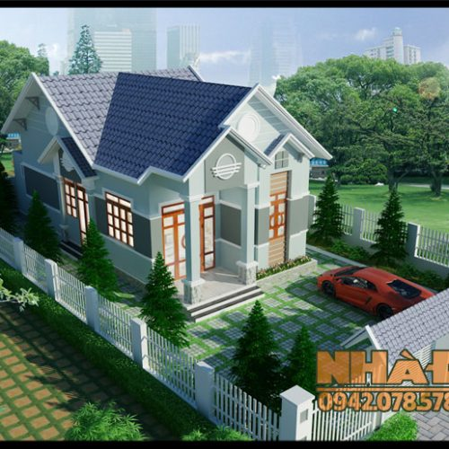 Mẫu nhà cấp 4 đẹp hiện đại 7x14m có 3 phòng ngủ tại-Phú Thọ-VNC310517