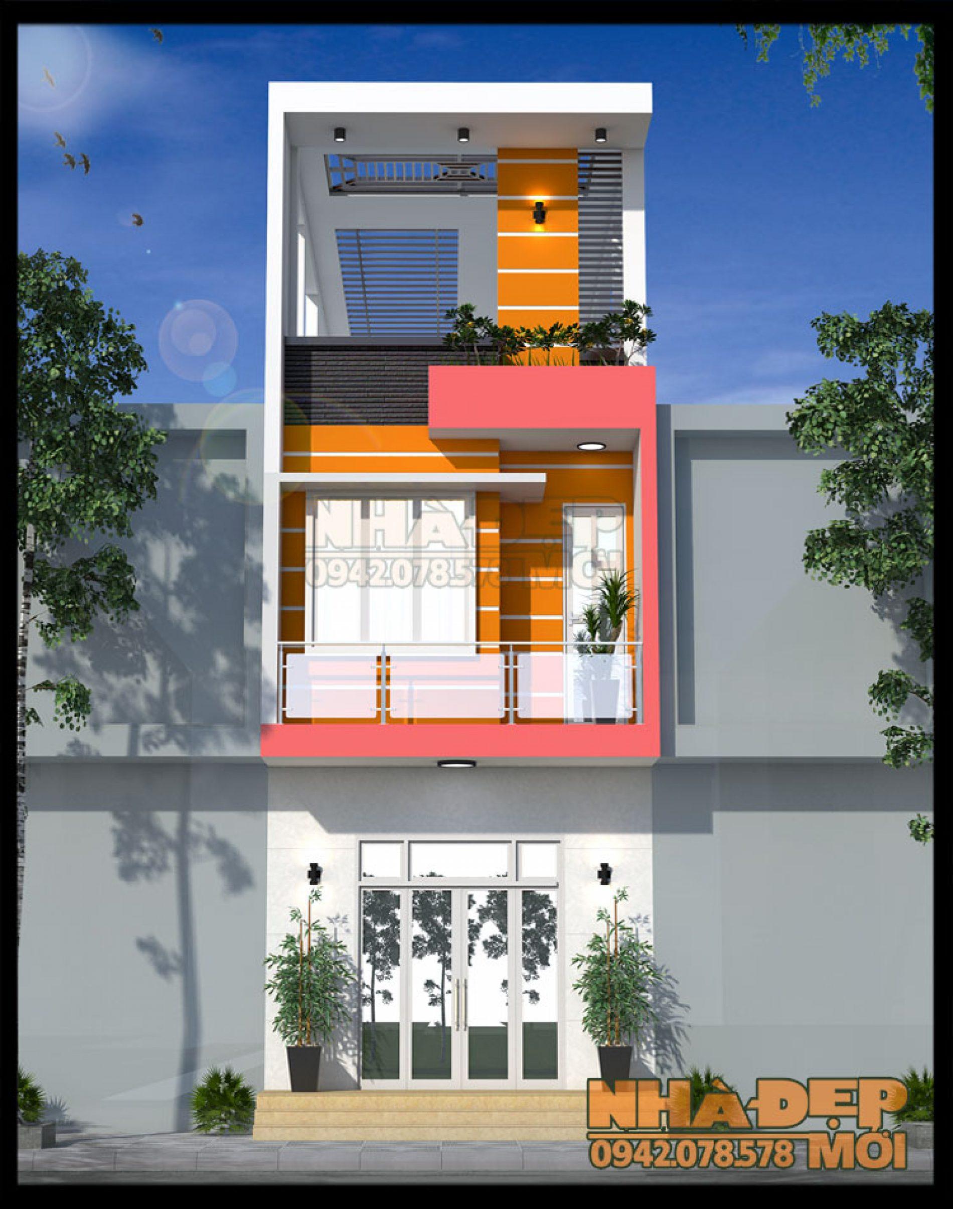 Mẫu nhà phố đẹp kiêm kinh doanh 5x27m với kiến trúc hiện đại bắt mắt tại Thủ Đức,TP.HCM-VNP220517