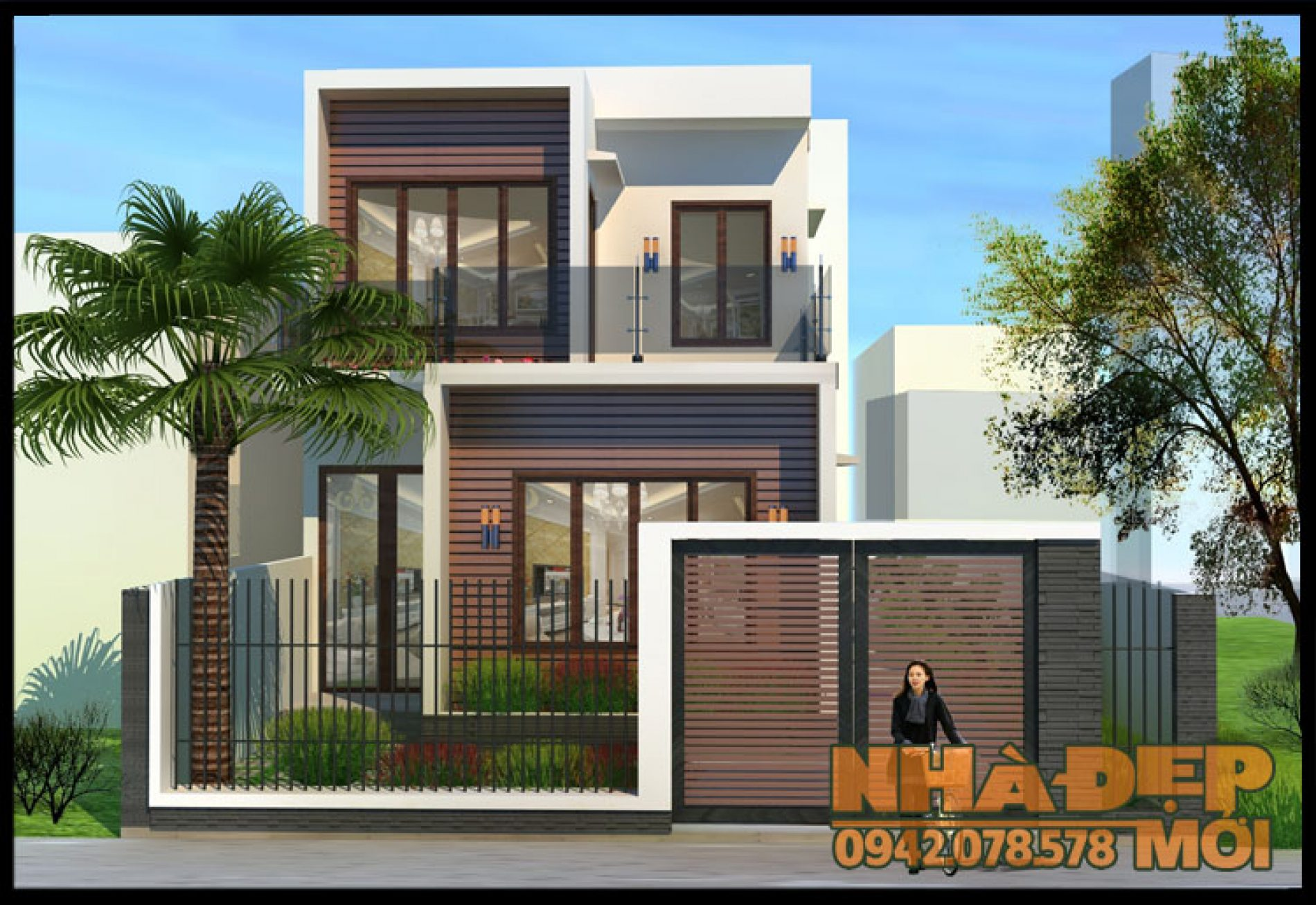 Mẫu nhà đẹp 2 tầng đơn giản 75m2 có nội thất sang trọng tại TP.Hà Tĩnh-VNP100517