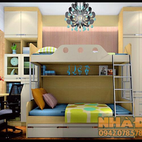 Mẫu thiết kế phòng ngủ trẻ em đẹp theo phong cách hiện đại